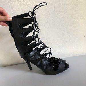 Lace Up Heels (size 12)